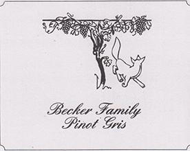 Becker Family Pinot Gris Label
